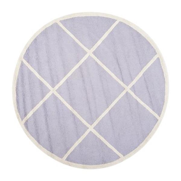 Safavieh Cambridge 6-ft Round Lavender and Ivory Area Rug