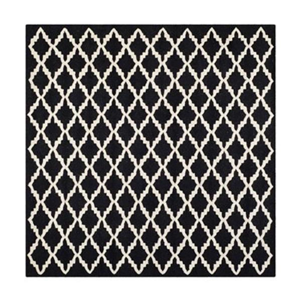 Safavieh Cambridge 6-ft Square Black and Ivory Area Rug