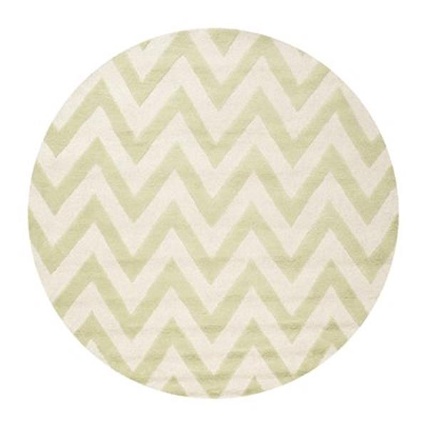 Safavieh Cambridge 6-ft Round Light Green and Ivory Area Rug