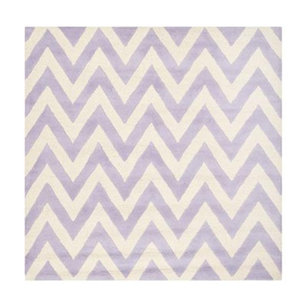Safavieh Cambridge 6-ft Square Lavender and Ivory Area Rug