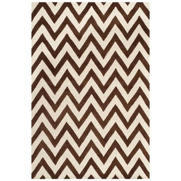 Safavieh Cambridge 6-ft Dark Brown and Ivory Area Rug