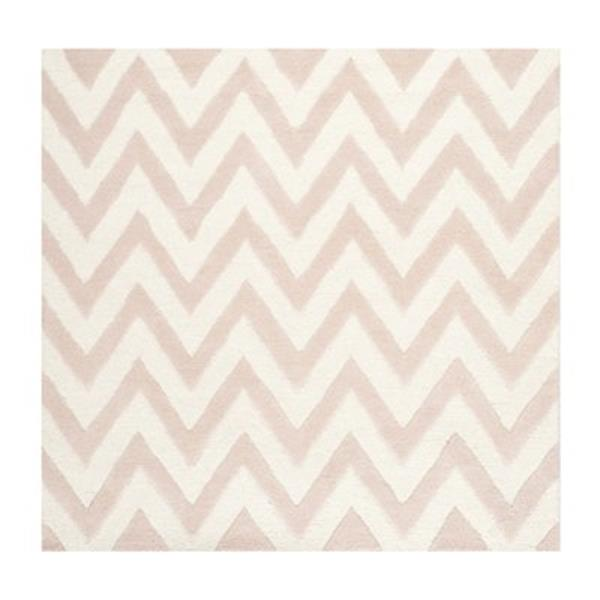 Safavieh Cambridge 6-ft x 6-ft Light Pink and Ivory Square Chevron Area Rug