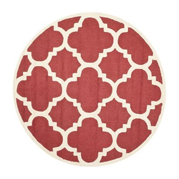 Safavieh Cambridge 6-ft Round Rust and Ivory Area Rug