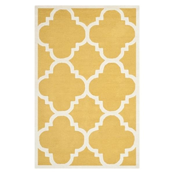 Safavieh Cambridge 5-ft x 8-ft Gold and Ivory Area Rug