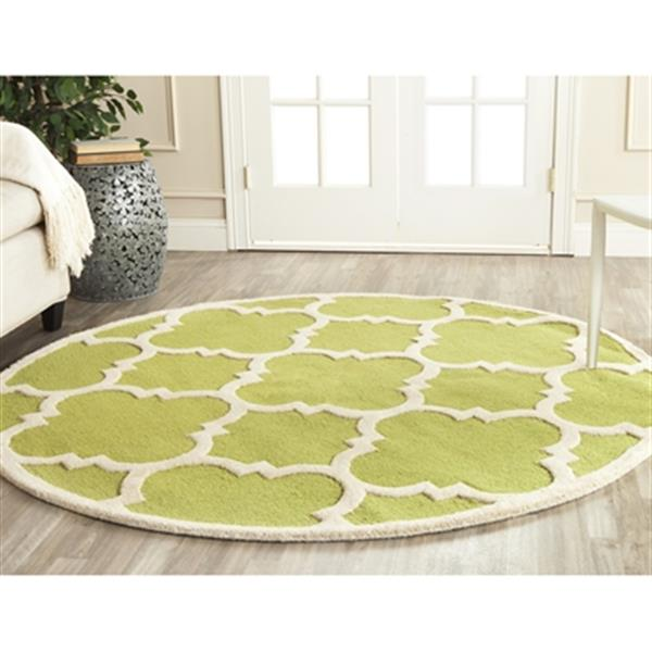 Safavieh Cambridge 6-ft Round Green and Ivory Area Rug