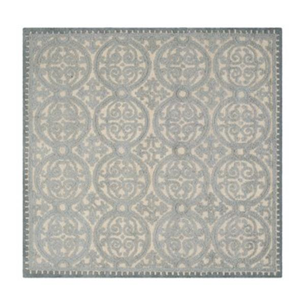 Safavieh Cambridge 6-ft Square Dusty Blue and Cement Area Rug