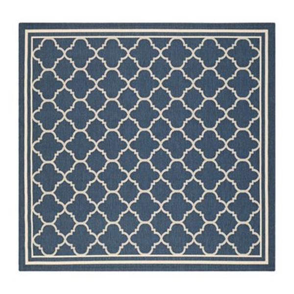 Safavieh Courtyard 8-ft x 11-ft Navy/Beige Area Rug