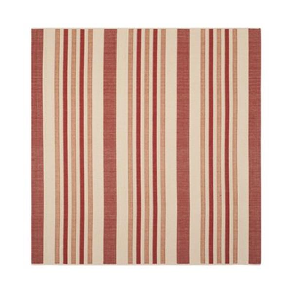 Safavieh Courtyard 11 ft x 8 ft Beige and Red Area Rug