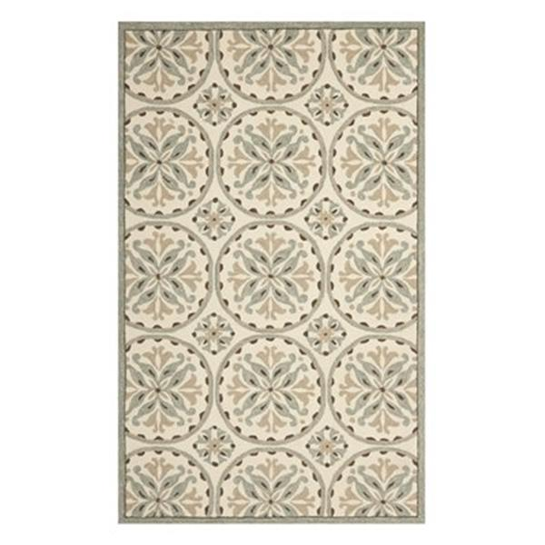 Safavieh Four Seasons 5-ft x 8-ft Green and Brown Area Rug