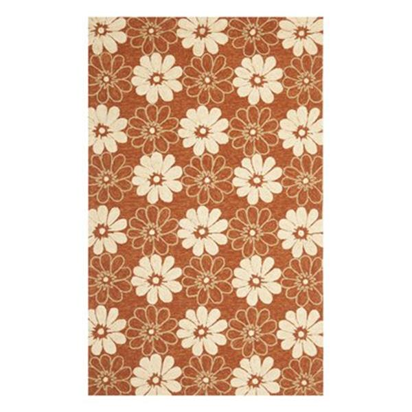 Safavieh Four Seasons 5-ft x8-ft Rust and Ivory Area Rug