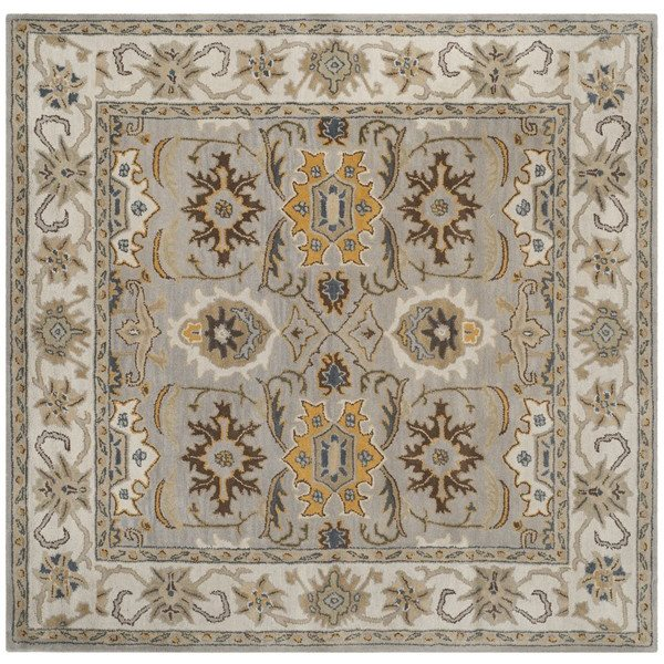 Safavieh Heritage 6-ft Square Light Grey and Grey Area Rug