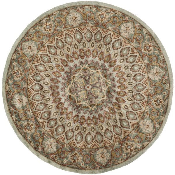 Safavieh Heritage 6-ft Round Blue and Grey Area Rug