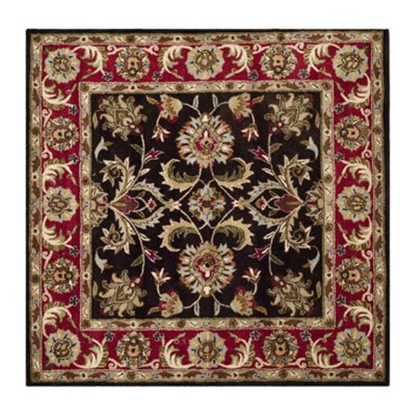 Safavieh Heritage 6-ft Square Chocolate and Red Area Rug