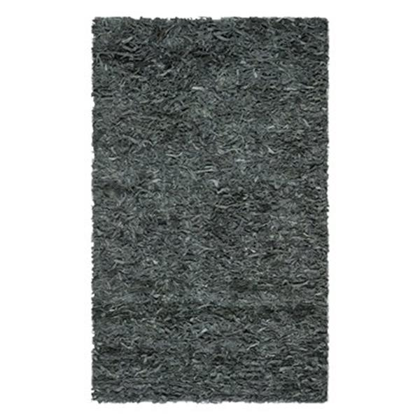 Safavieh Leather Shag 6-ft x 9-ft Gray Area Rug