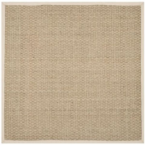 Safavieh Natural Fiber 8-ft Square Natural and Ivory Area Rug