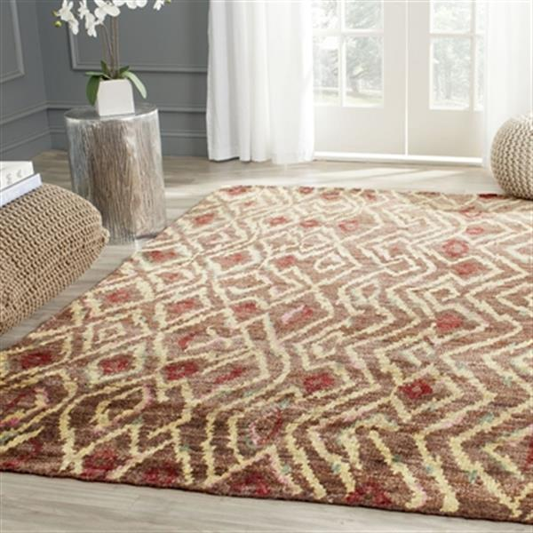Safavieh Bohemian 4-ft x 6-ft Brown and Gold Area Rug