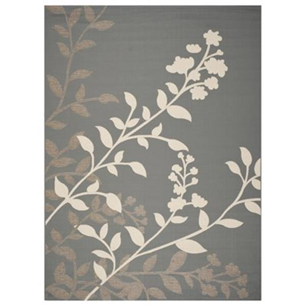 Safavieh CY7019-246 Courtyard Anthracite and Beige Area Rug,
