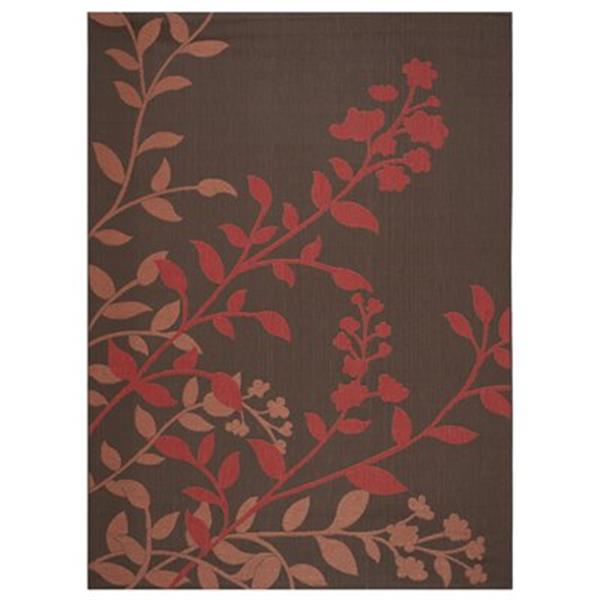 Safavieh Courtyard 11-ft X 8-ft Red Area Rug