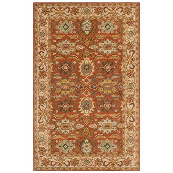 Safavieh Heritage 5-ft x 8-ft Rust and Beige Area Rug