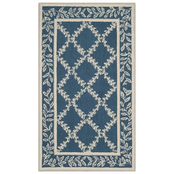 Safavieh Chelsea 5-ft x 8-ft Navy and Creme Area Rug