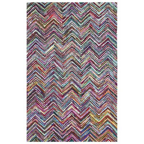 Safavieh Nantucket 5-ft x 8-ft Chevron Multi-Coloured Area Rug