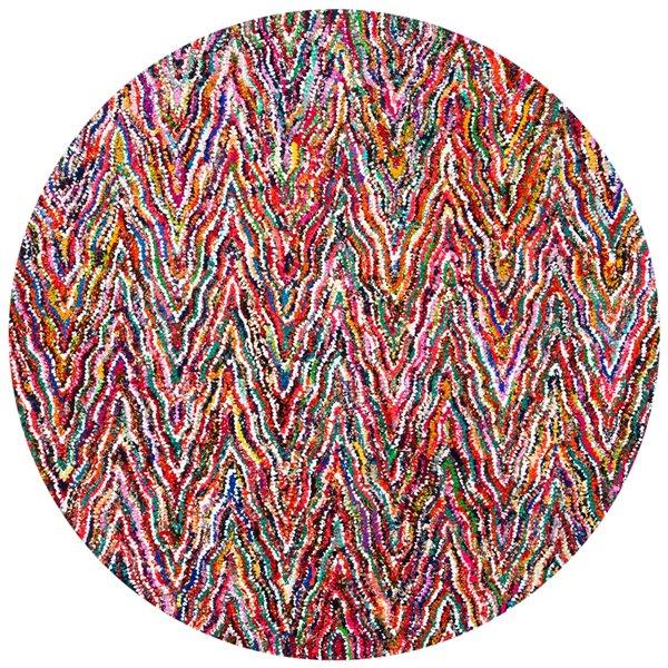 Safavieh Nantucket 6-ft Round Multi-Colour Area Rug