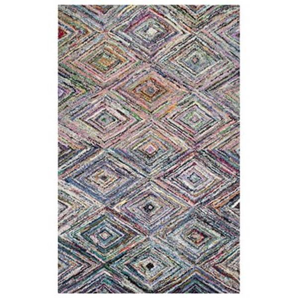 Safavieh Nantucket 8-ft x 5-ft Green and Multicolour Area Rug