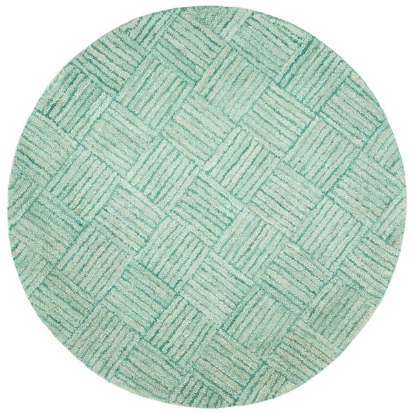 Safavieh Nantucket 6-ft Green and Multicolour Area Rug