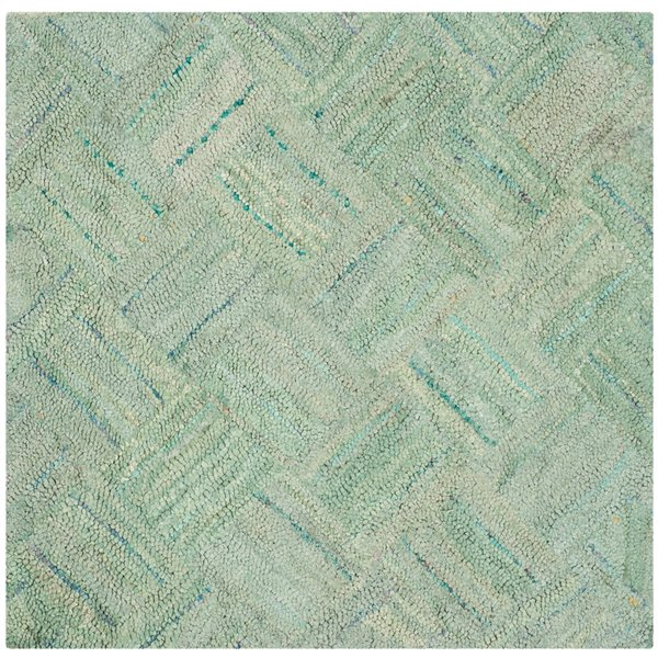 Safavieh Nantucket 6-ft x 6-ft Green and Multicolour Area Rug