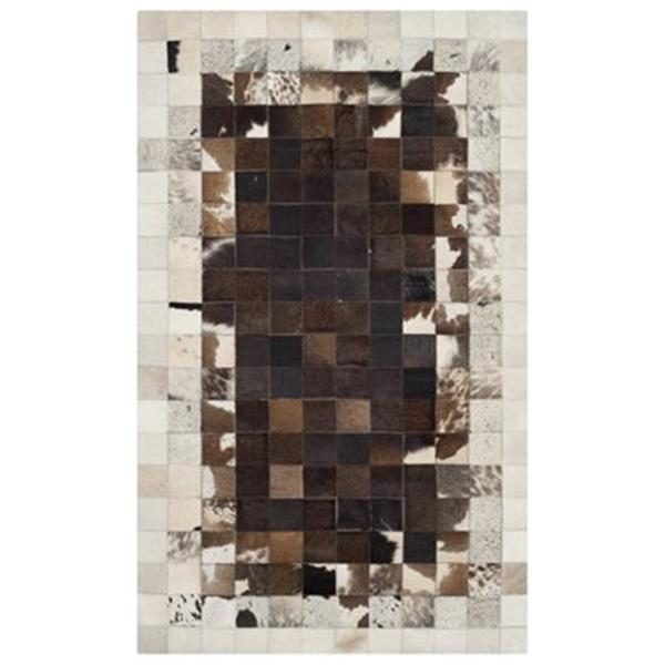 Safavieh Studio Leather 3-ft x 5-ft Ivory and Dark Brown Area Rug