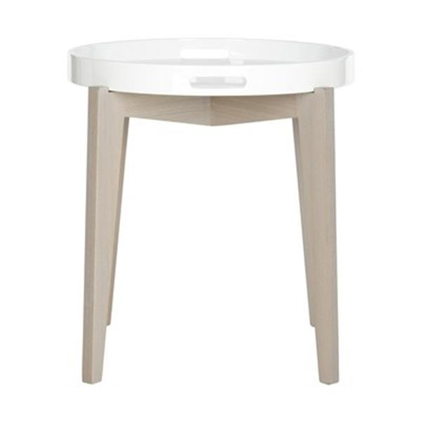 Safavieh Ben 21.25-in White Lacquer Side Table