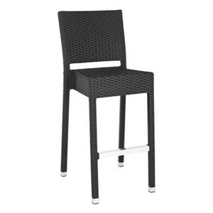 Safavieh Fox 43.5-in 17.3-in Black Wicker Bethel Indoor/Outdoor Bar Stool