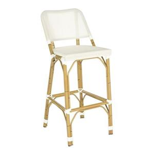 Safavieh Fox 41.3-in x 17-in Cream Wicker Deltana Indoor/Outdoor Bar Stool