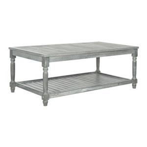 Safavieh 16.54-in x 43.31-in Ash Grey Oakley Coffee Table
