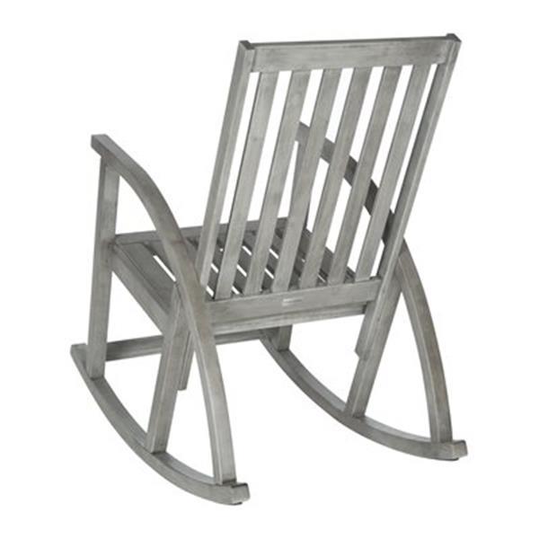 Safavieh 44.5-in x 26-in Grey Wash Clayton Rocking Chair