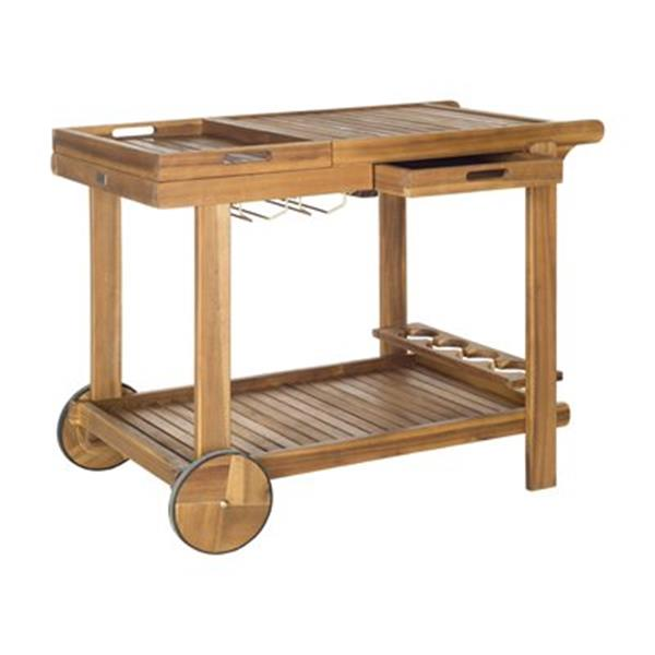 Safavieh Orland Brown Acacia Tea Trolley