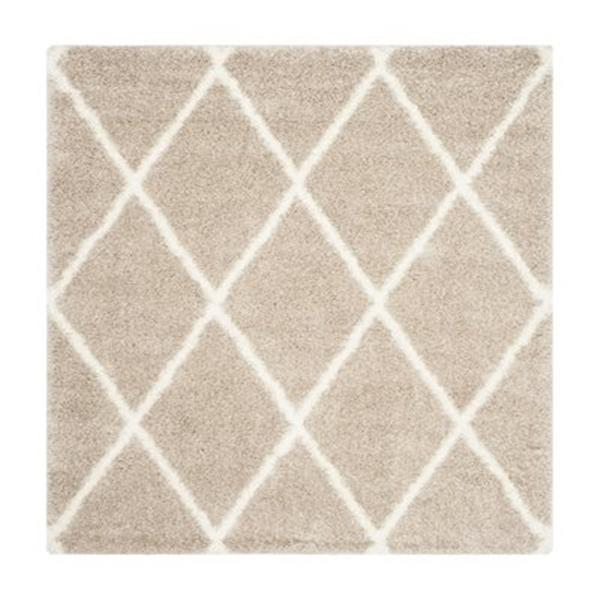 Safavieh Monteal Shag 7-ft Square Beige and Ivory Area Rug