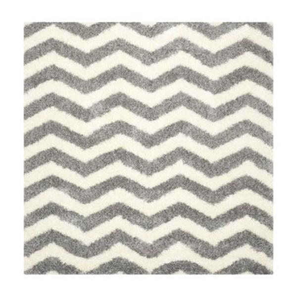 Safavieh Montreal Shag 7-ft Square Ivory and Grey Area Rug