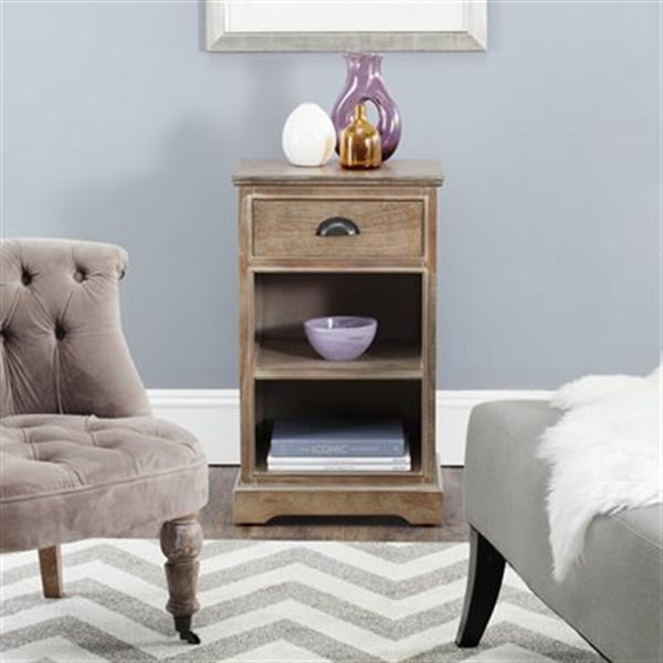Safavieh American Home 29.9-in Washed Natural Griffin Side Table