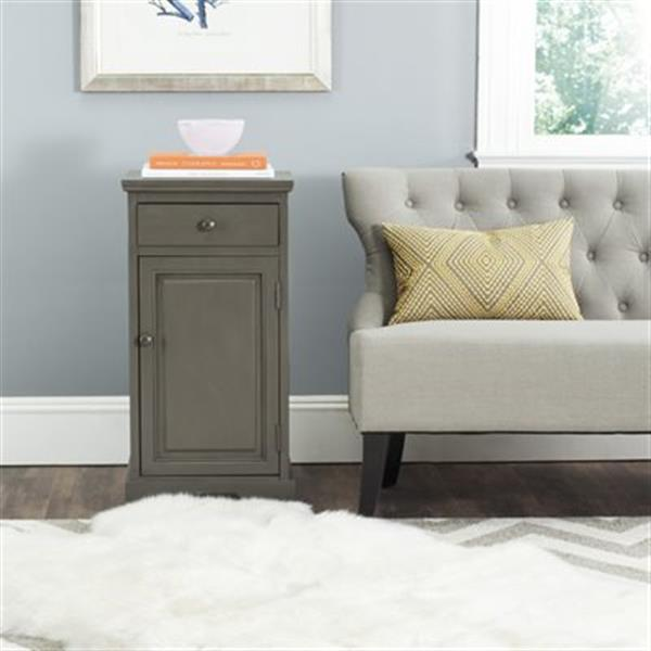 Safavieh American Home Warm Grey Rectangular Jett Cabinet