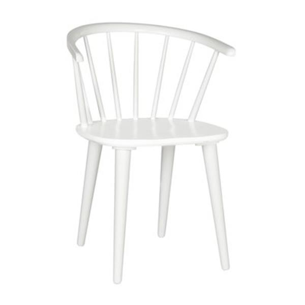 Safavieh American Home 29.90-in White Blanchard Side Chairs (Set of 2)