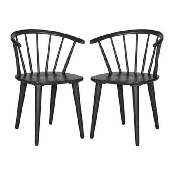 Safavieh American Home 29.90-in Warm Grey Blanchard Side Chairs (Set of 2)
