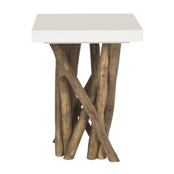 Safavieh Fox 20-in White Hartwick Side Table