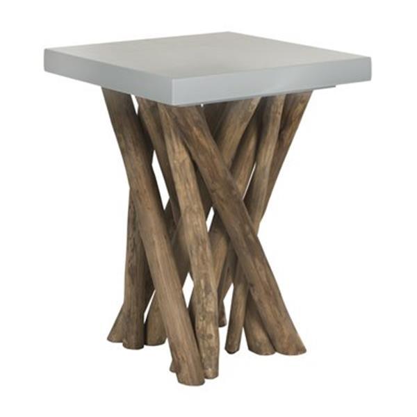 Safavieh Fox 20-in Grey Hartwick Side Table