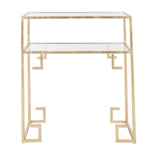 Safavieh Fox 26.3-in Gold Berdine Accent Table
