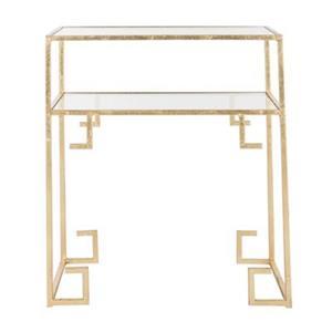 Safavieh Fox 26.3-in Gold Berdine Accent Table