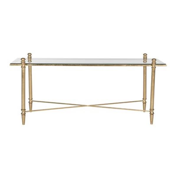 Safavieh Fox Gold/Clear Tait Coffee Table