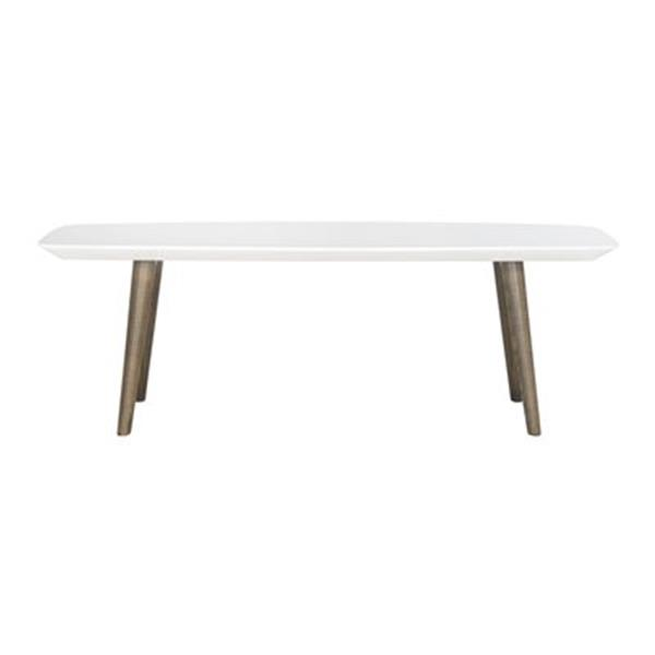 Safavieh Fox White/Dark Brown Josiah Coffee Table