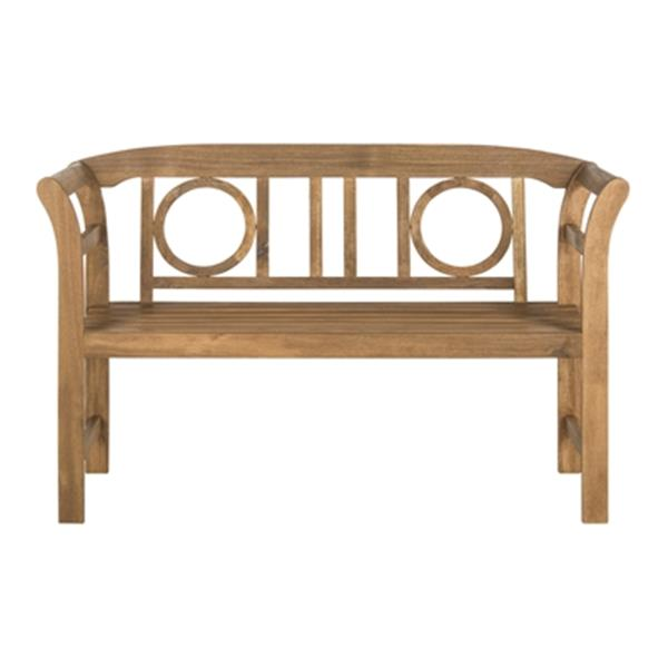 Safavieh Moorpark 31.1-in x 49.2-in Brown 2-Seat Bench