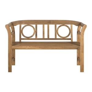 Safavieh Moorpark 31.1-in x 49.2-in Brown 2-Seat Bench